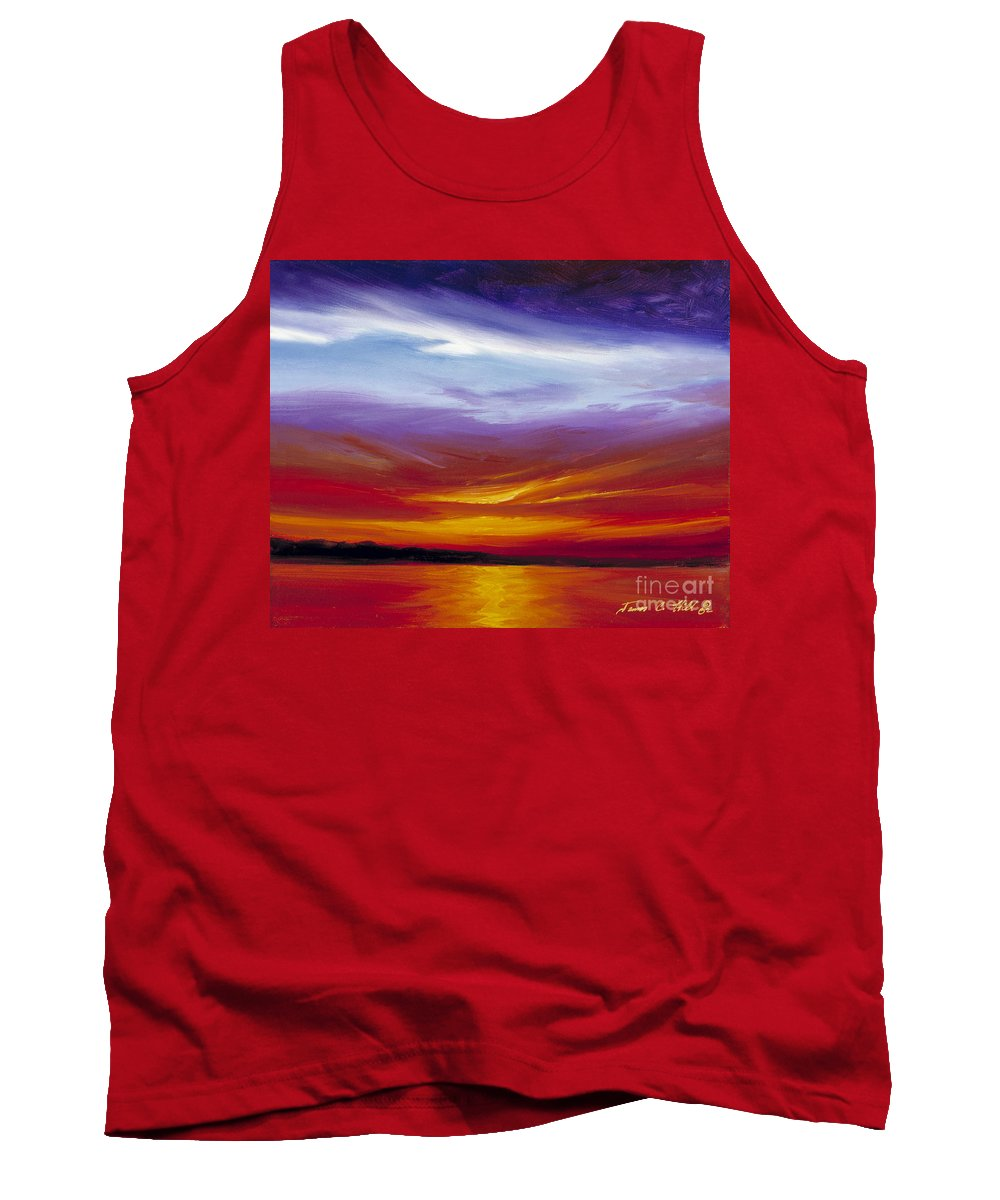 Skyscape Tank Top featuring the painting Sarasota Bay I by James Christopher Hill