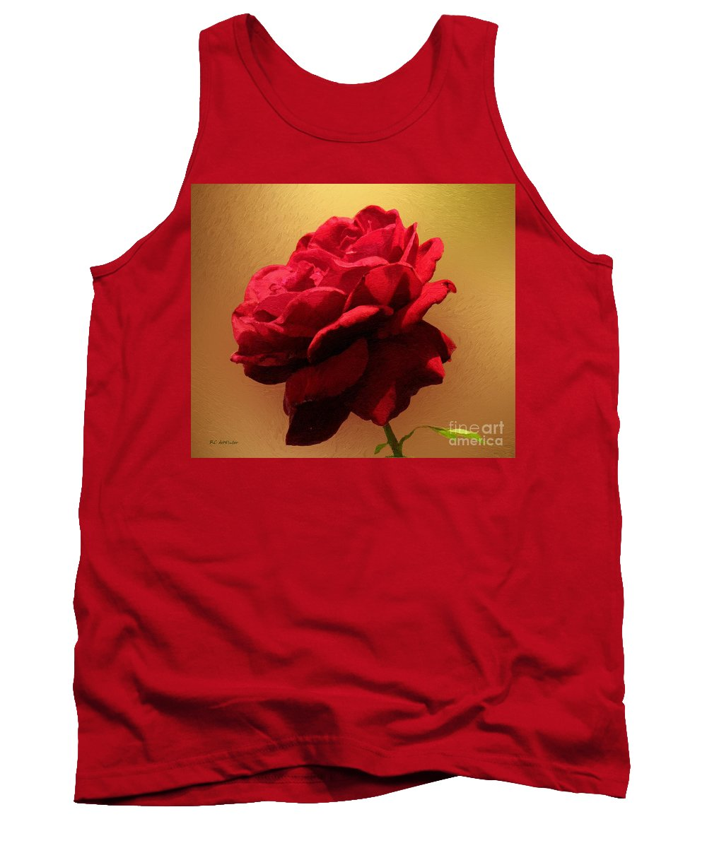 Red Rose Tank Top featuring the painting Scarlet Flamenco by RC DeWinter