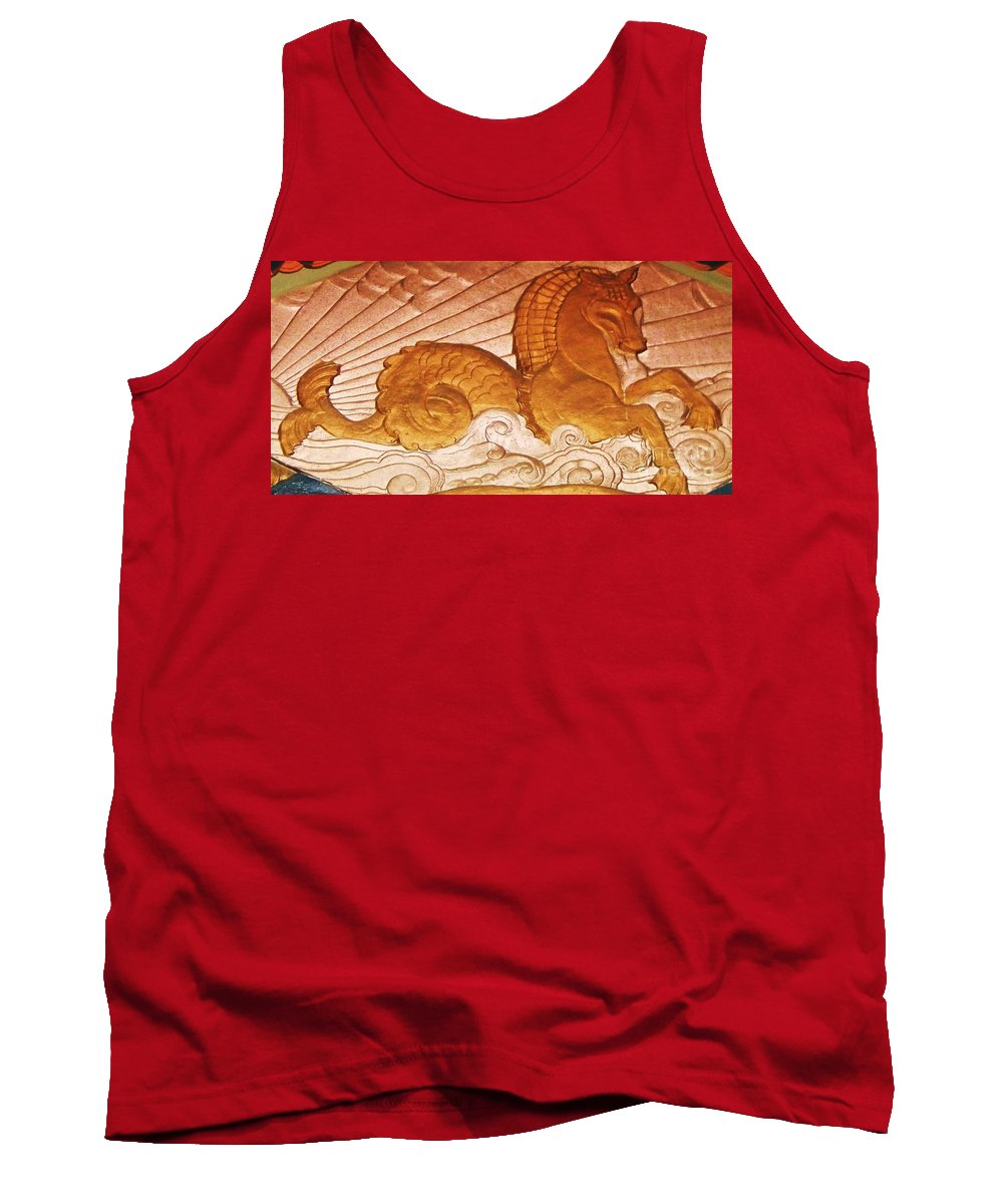 Serpent Tank Top featuring the painting Sea Serpent by Eric Schiabor