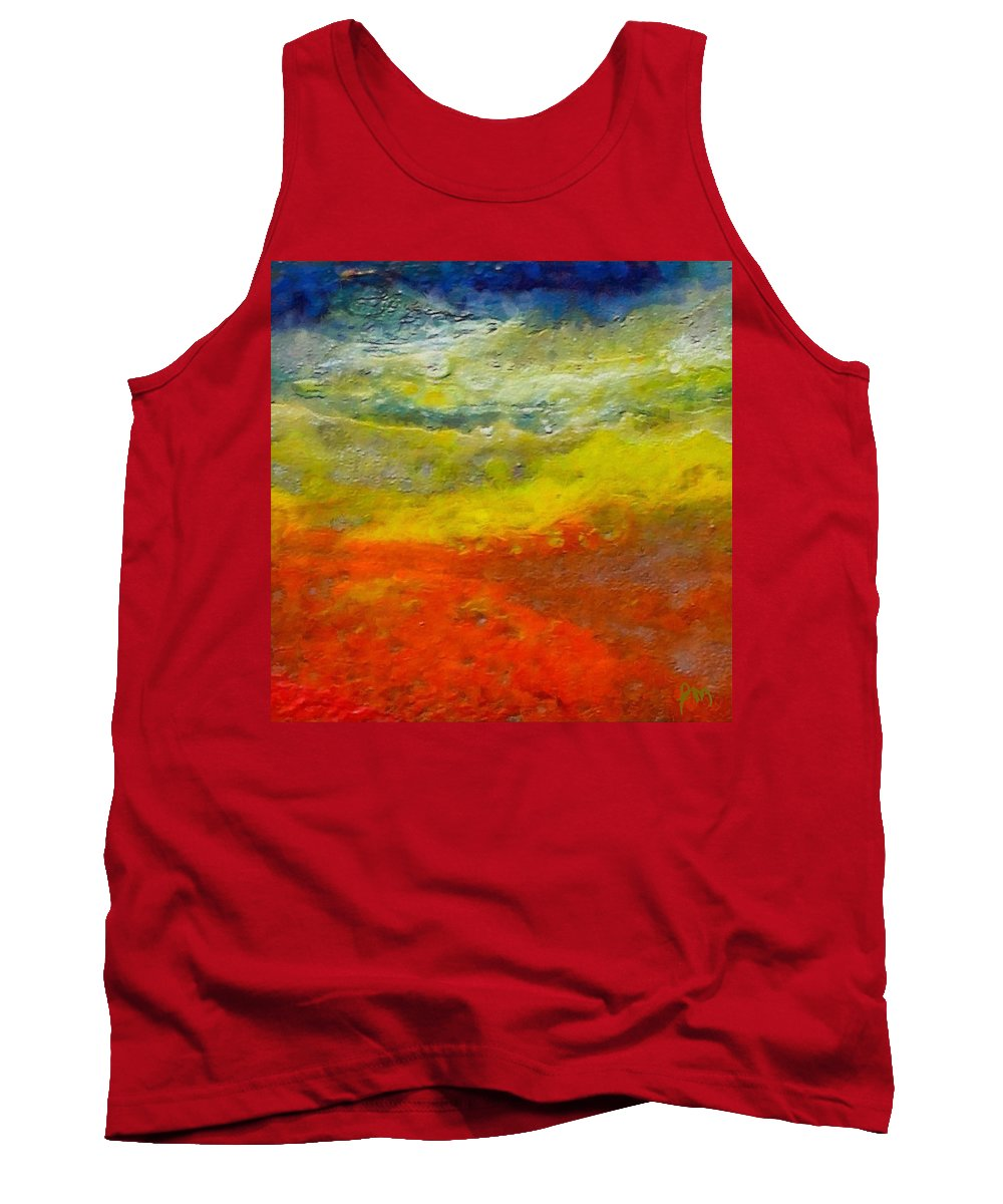 Seashore Tank Top featuring the painting Seashore by Dragica Micki Fortuna