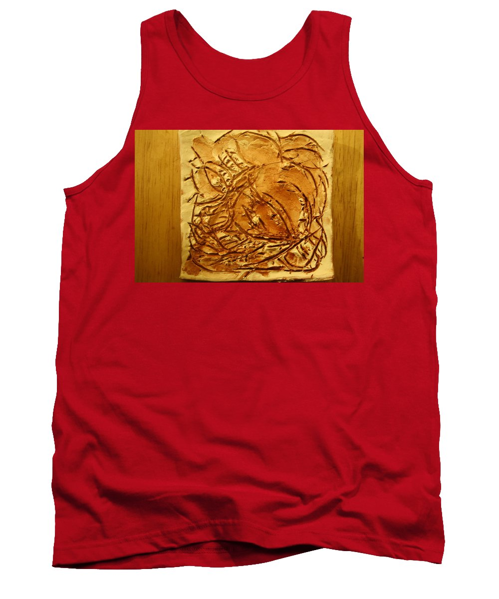 Jesus Tank Top featuring the ceramic art Seasons - Tile by Gloria Ssali