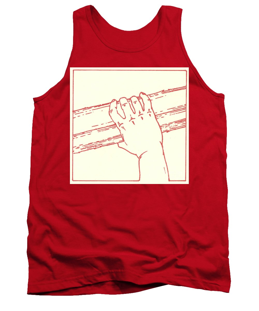 Tank Top featuring the drawing Second Station- Jesus Is Made To Carry His Cross by William Hart McNichols