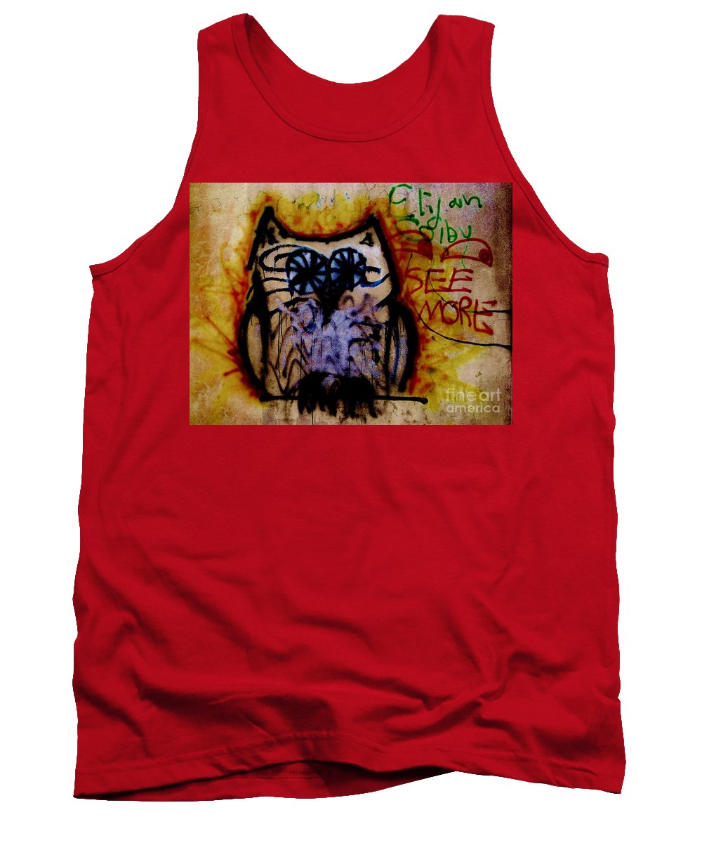 Grafitti Art Tank Top featuring the photograph See More by Amar Sheow