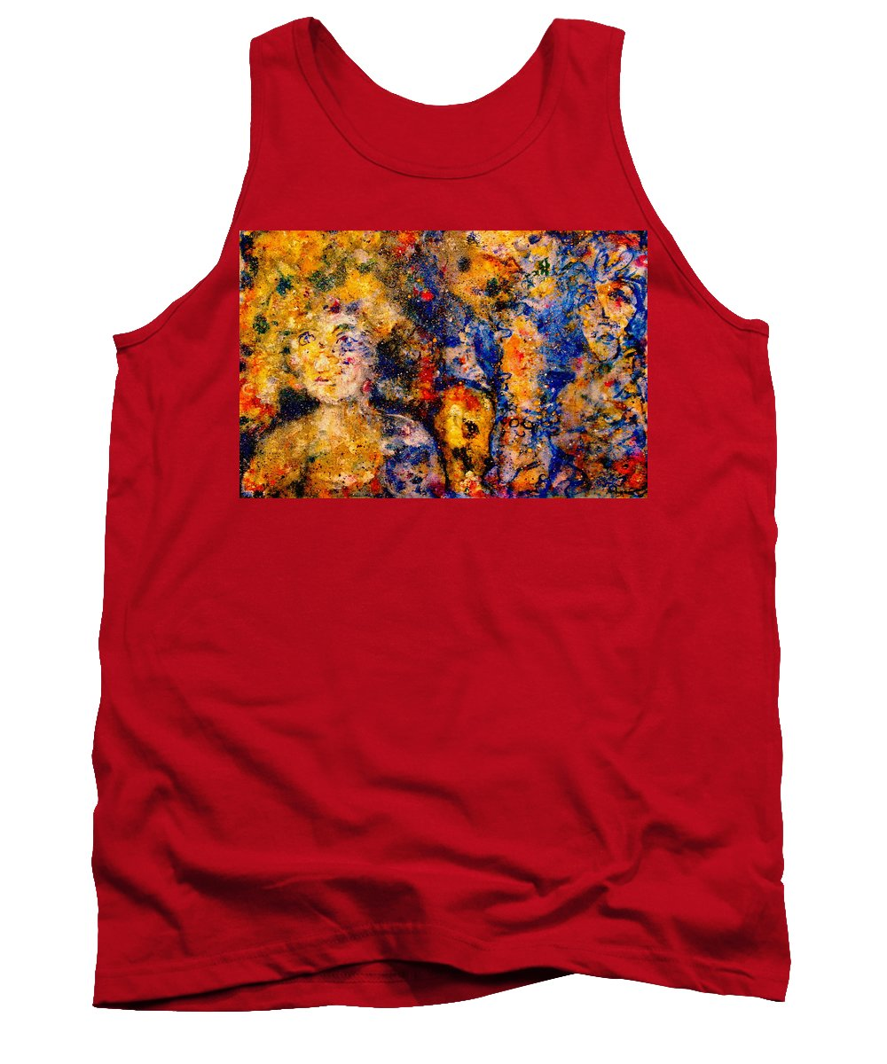 Expressionism Tank Top featuring the painting Seeking Wanderers by Natalie Holland