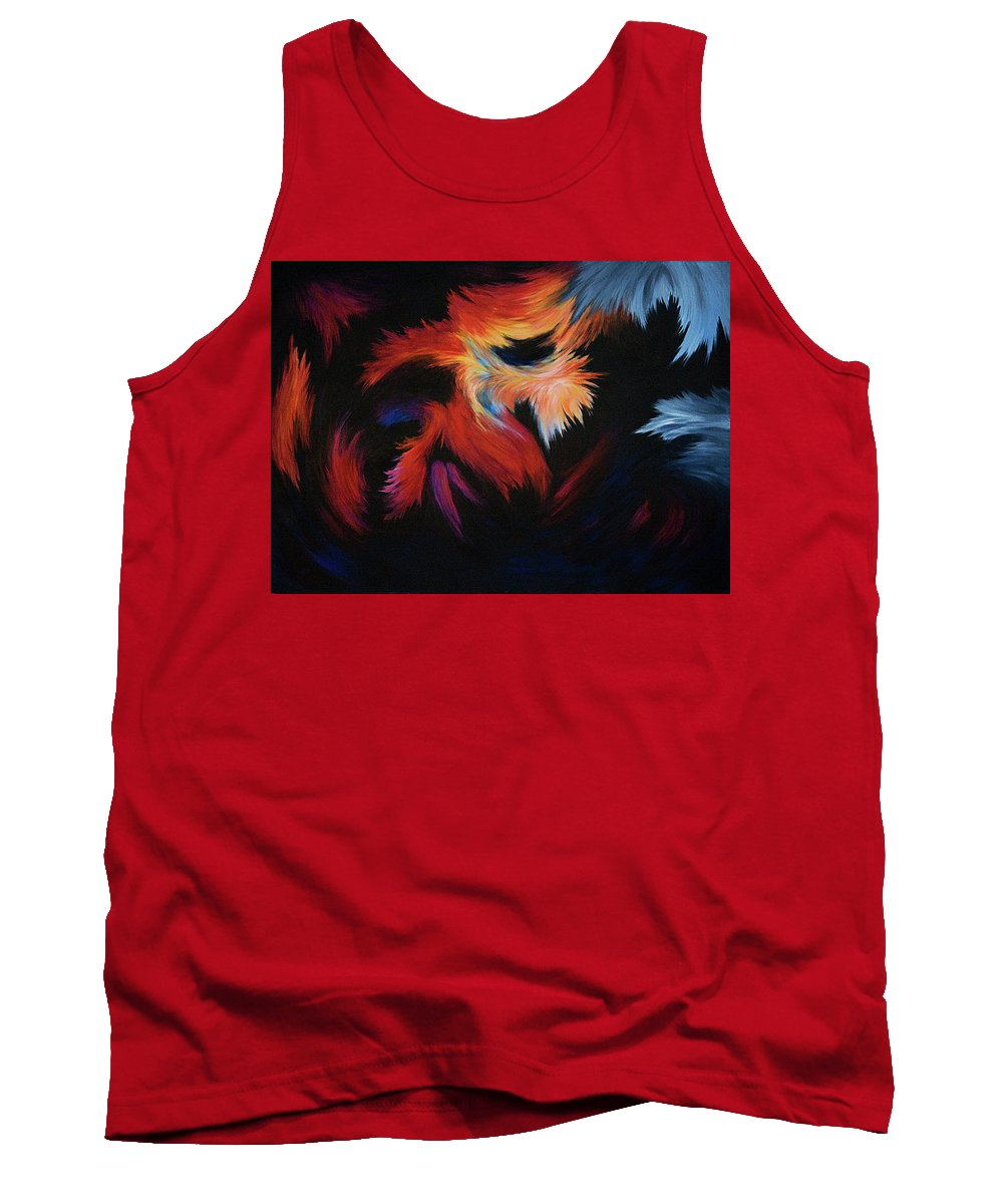 Abstract Tank Top featuring the painting Seizure by Rachel Christine Nowicki
