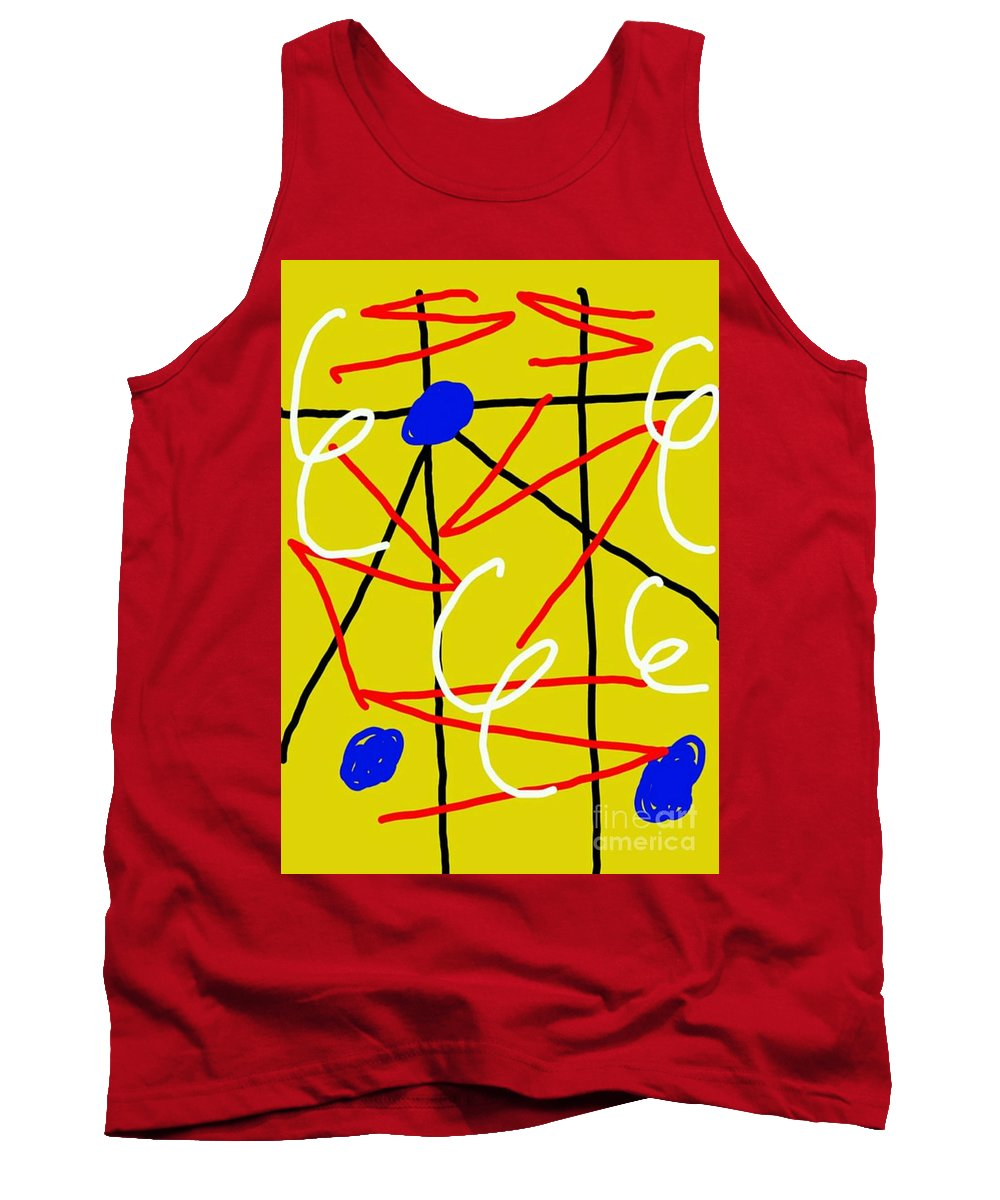 Separation Tank Top featuring the digital art Separation by Paulo Guimaraes