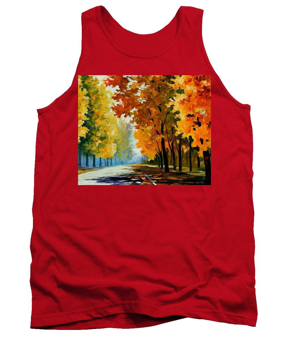 Afremov Tank Top featuring the painting September Morning by Leonid Afremov
