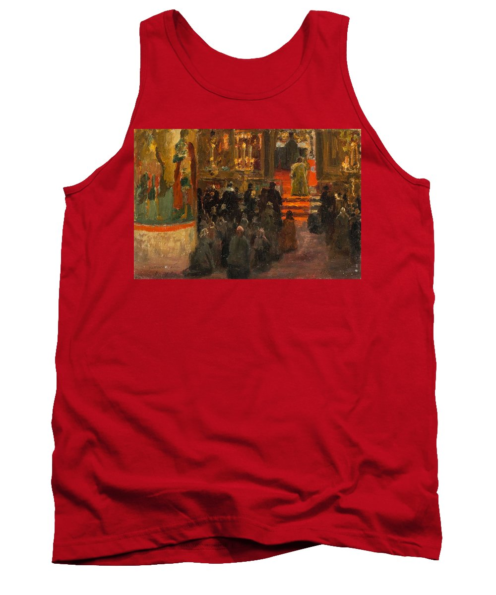 Nature Tank Top featuring the painting Sergey Dmitrievich Miloradovich Russian 1851-1943 Uspenskiy Cathedral, 1917 by Artistic Panda