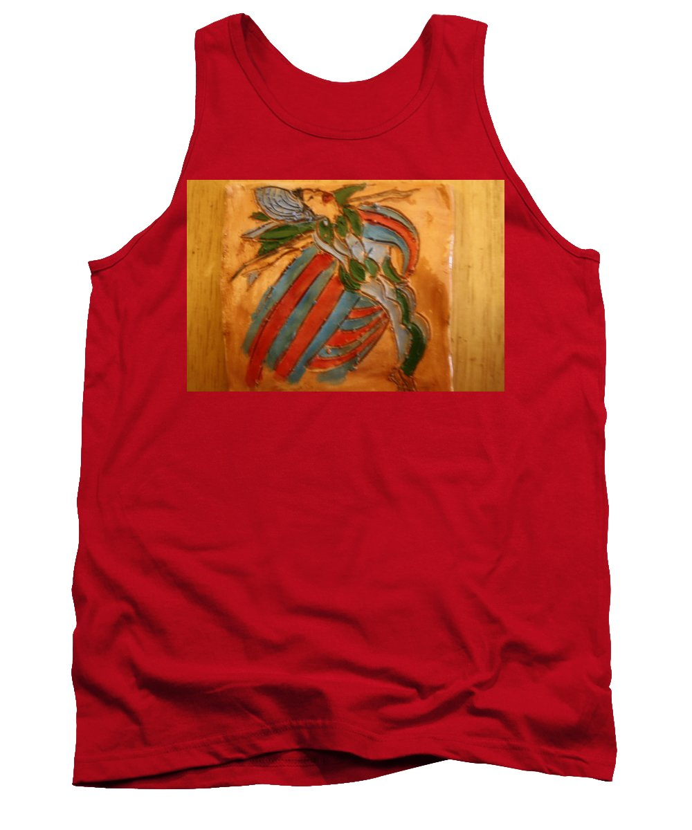 Jesus Tank Top featuring the ceramic art Sheer Bliss - Tile by Gloria Ssali