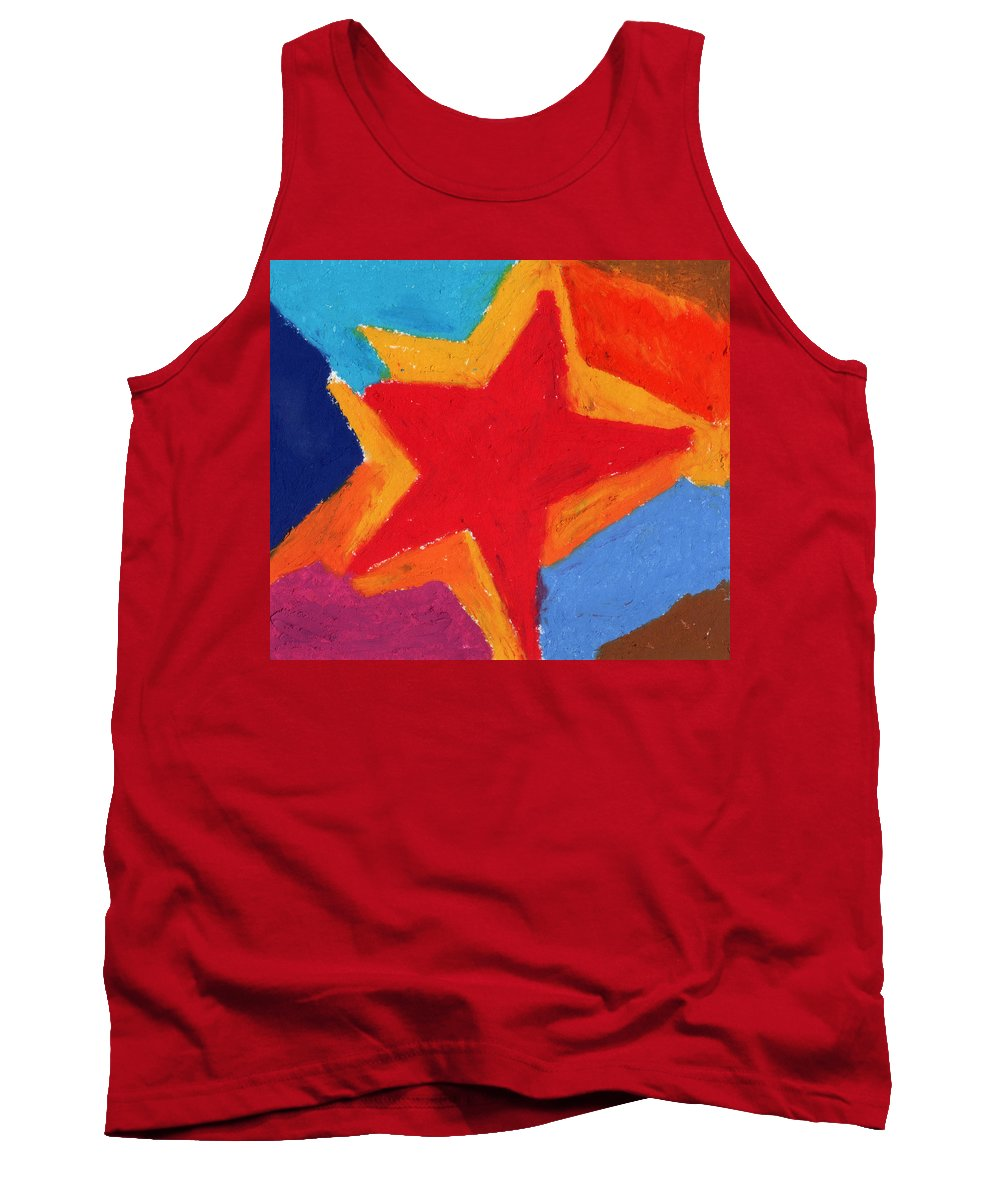 Star Tank Top featuring the painting Simple Star-straight Edge by Stephen Anderson