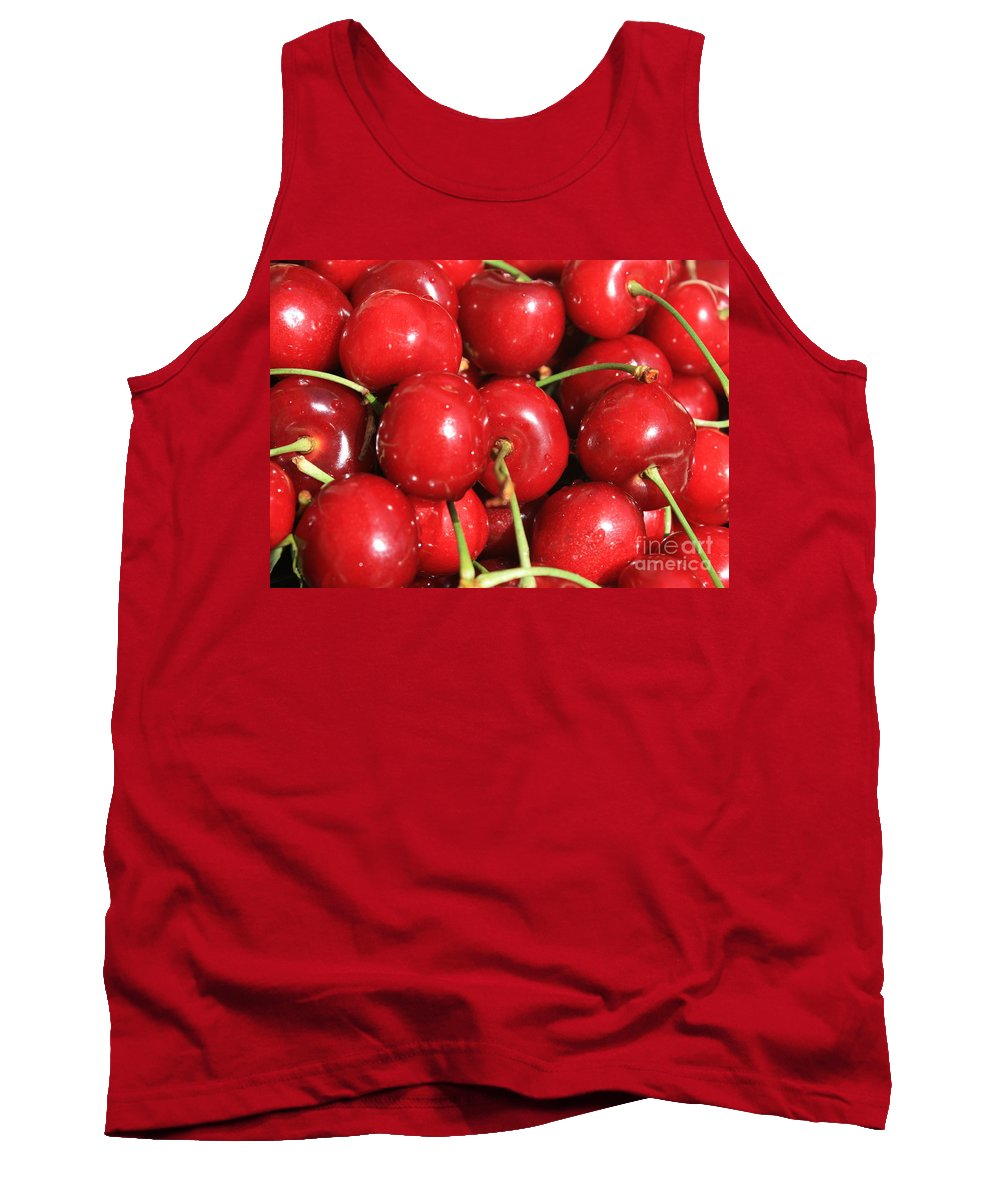 Cherries Tank Top featuring the photograph Simply Cherries by Carol Groenen