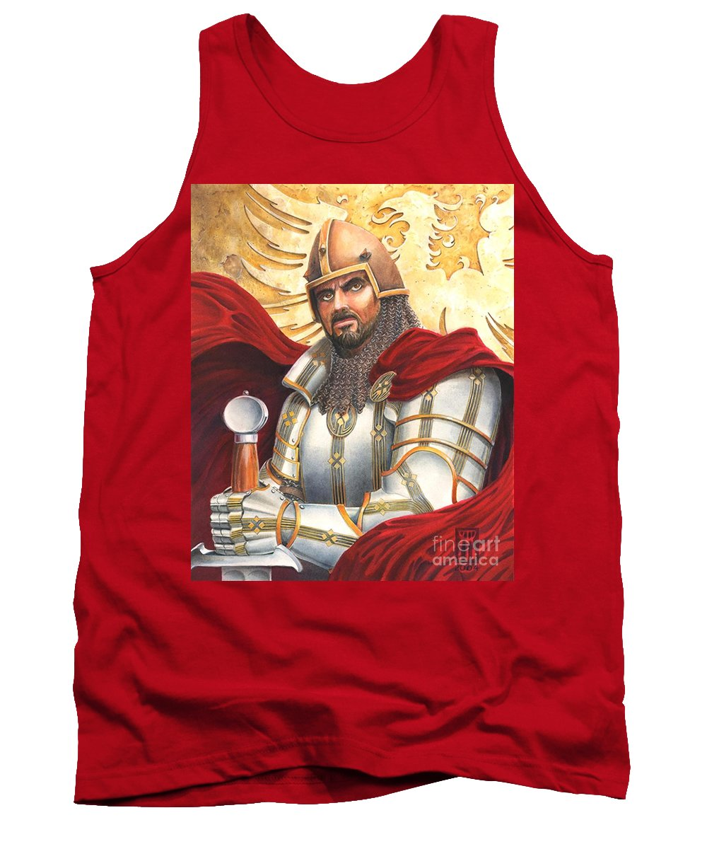 Swords Tank Top featuring the drawing Sir Gawain by Melissa A Benson