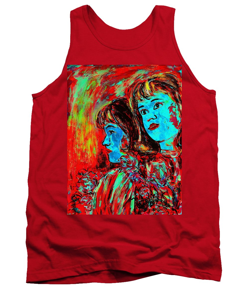 Sisters Tank Top featuring the painting Sisters by Natalie Holland