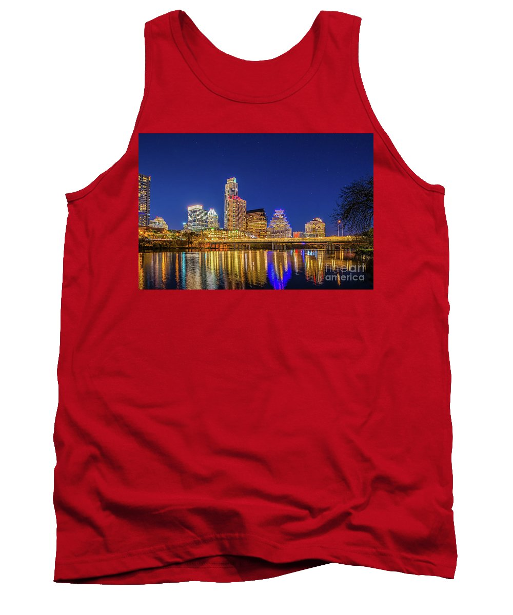 Austin Tank Top featuring the photograph Skyline Of Downtown Austin by Tod and Cynthia Grubbs