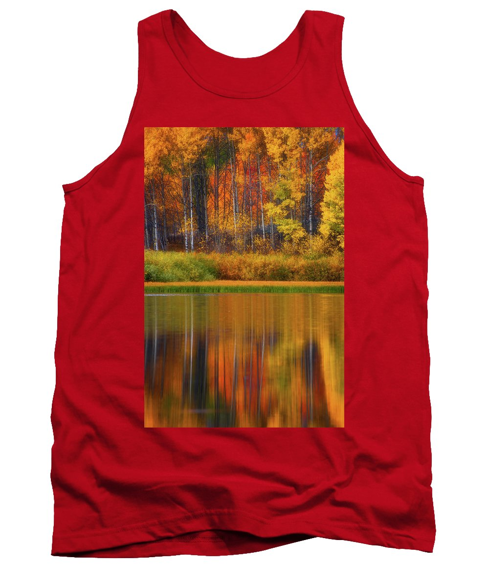 Wyoming Tank Top featuring the photograph Snake River Fall Colors by Darren White
