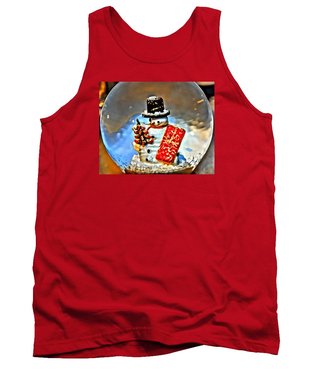 Snow Tank Top featuring the photograph Snow Globe by Modern Art