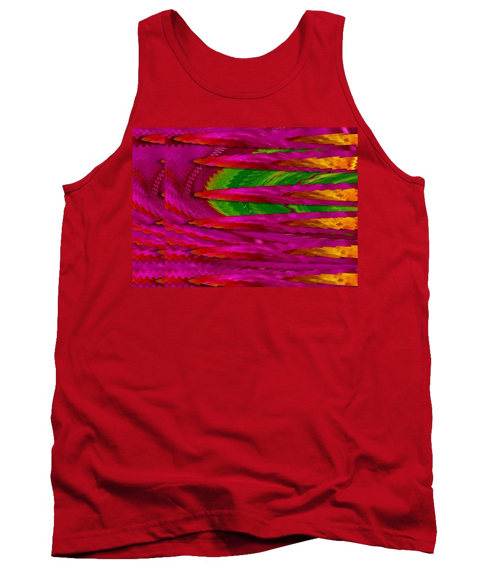Abstract Tank Top featuring the mixed media Soft And Wonderful Art by Pepita Selles