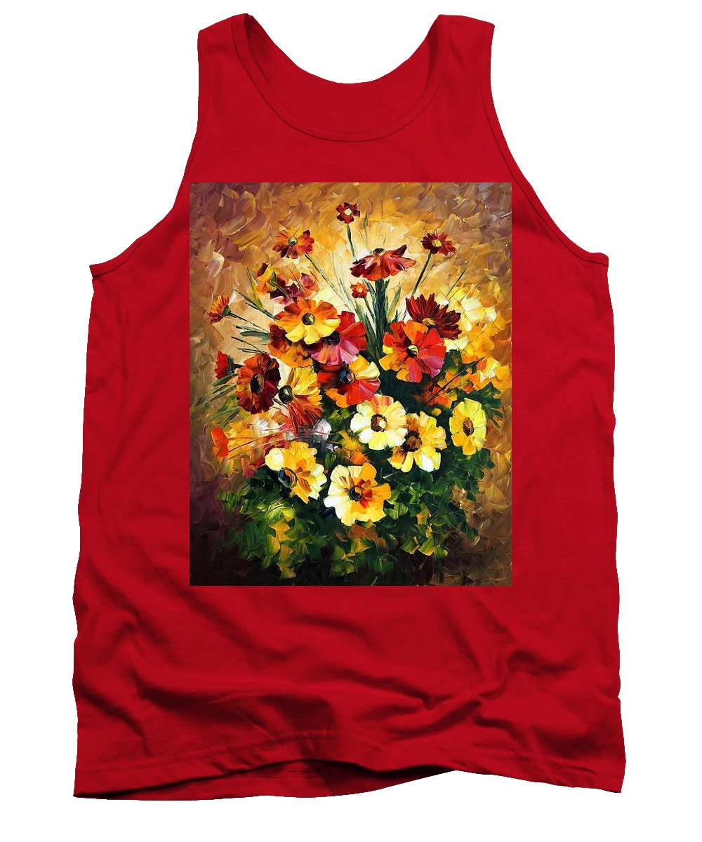 Afremov Tank Top featuring the painting Songs Of My Heart by Leonid Afremov