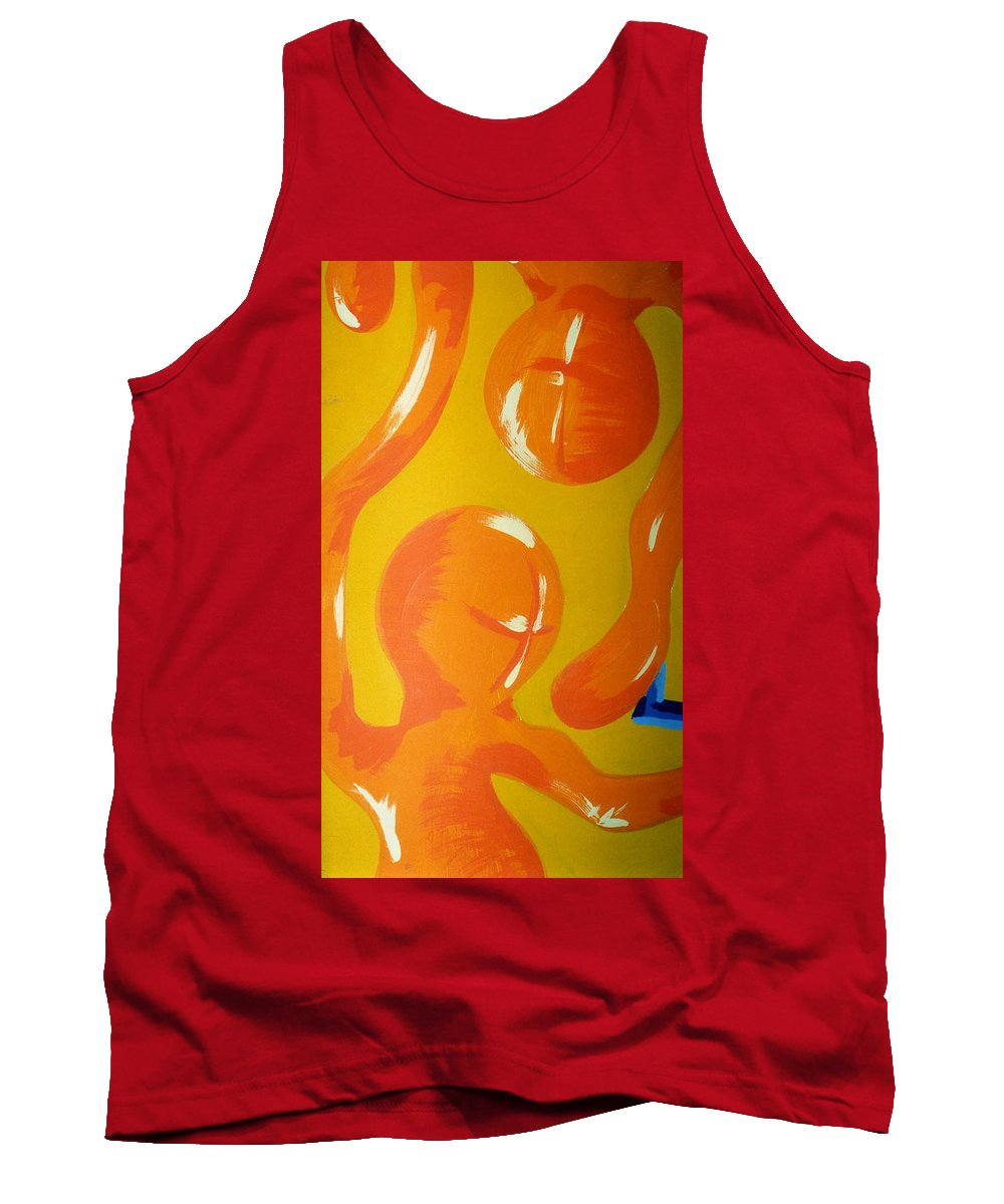 Tank Top featuring the painting Soul Figures 6 by Catt Kyriacou