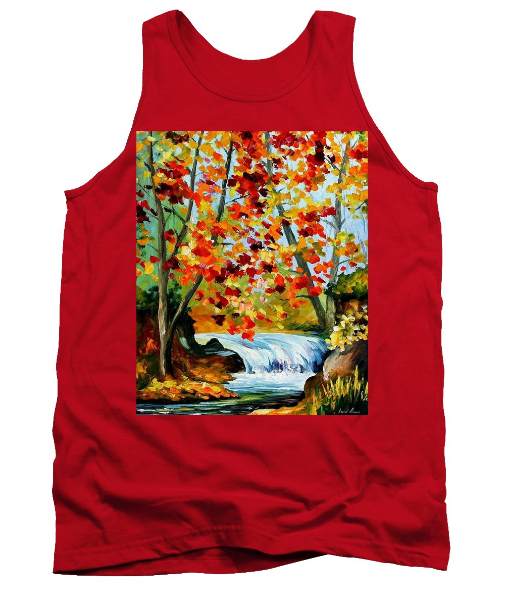 Afremov Tank Top featuring the painting Source by Leonid Afremov