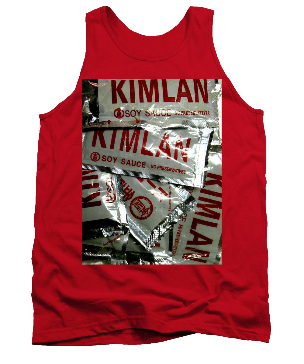 Kimlan Tank Top featuring the photograph Soy Sauce by M Pace
