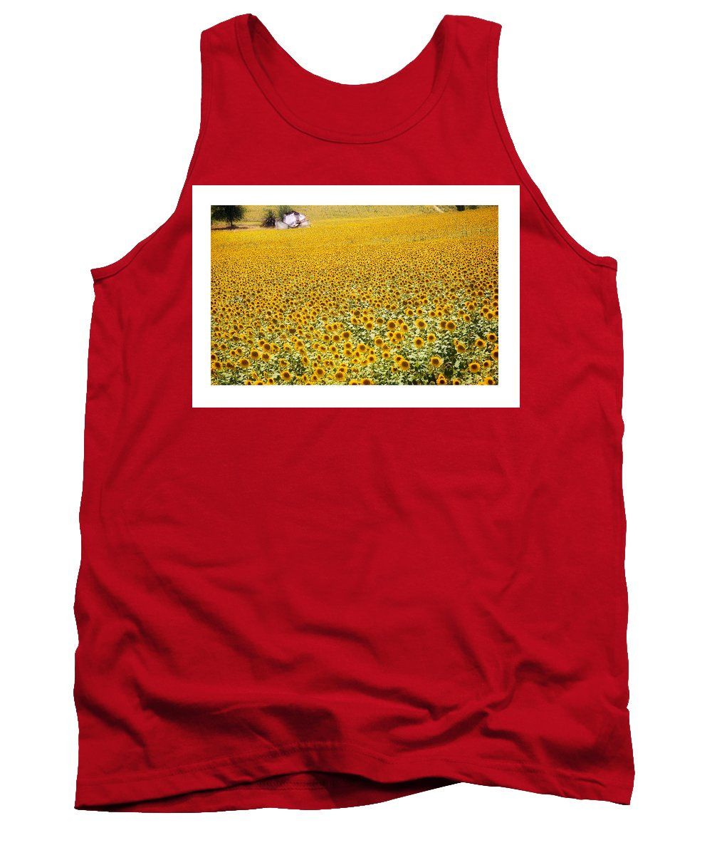 Sunflowers Tank Top featuring the photograph Spanish Sunflowers by Mal Bray