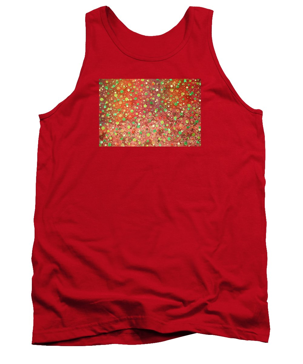 Red Tank Top featuring the photograph Sparkles by Nareeta Martin