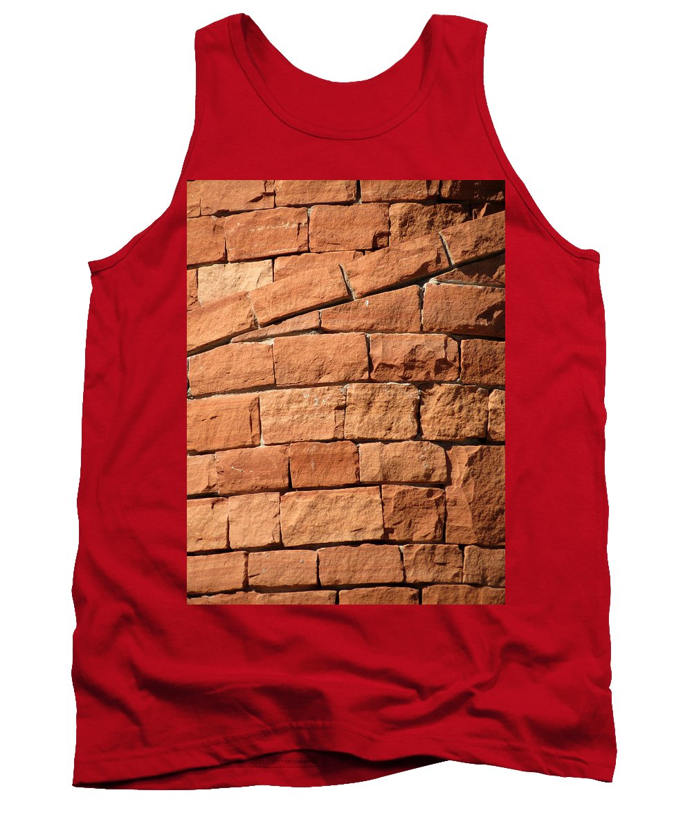 Spiral Tank Top featuring the photograph Spiraling Bricks by Laurel Powell