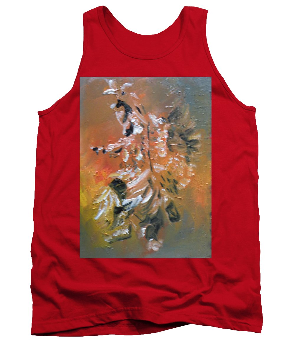 Native Dancing Tank Top featuring the painting Spirit Dancer by Mia DeLode