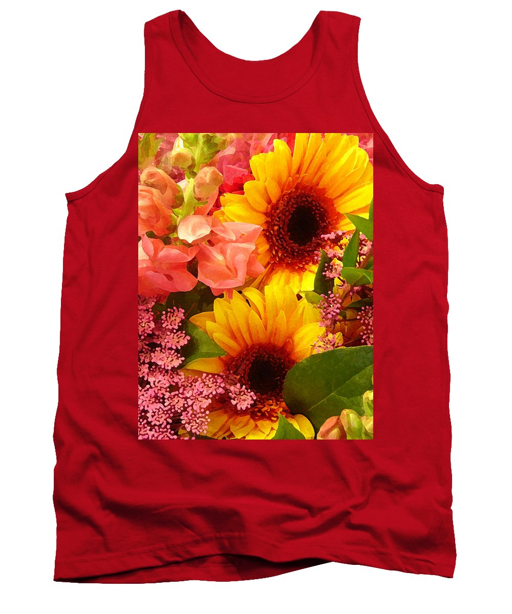 Roses Tank Top featuring the photograph Spring Bouquet 1 by Amy Vangsgard