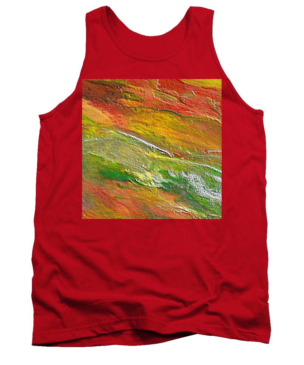 Abstract Tank Top featuring the painting Spring In The Desert by Dragica Micki Fortuna