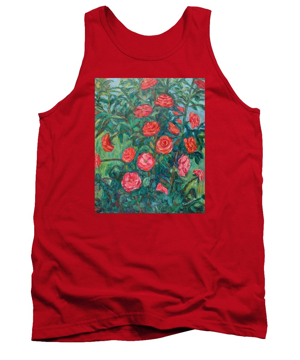 Rose Tank Top featuring the painting Spring Roses by Kendall Kessler