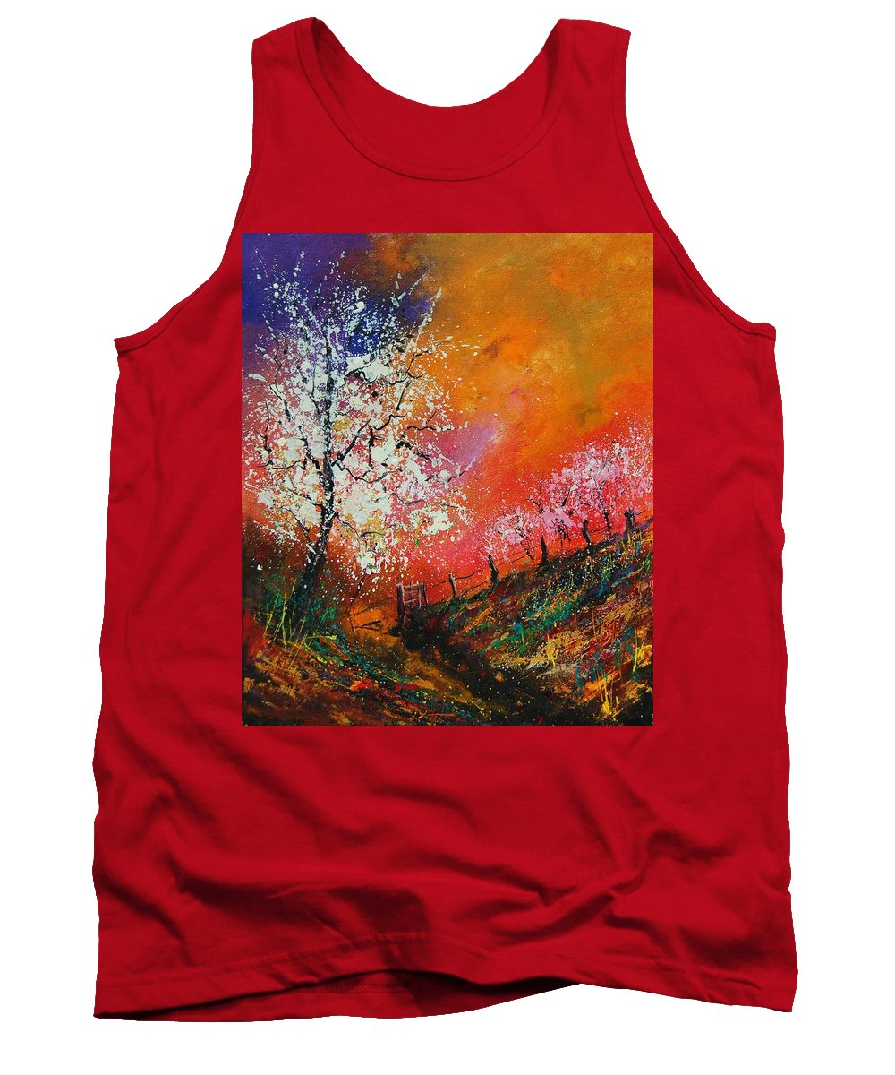 Spring Tank Top featuring the painting Spring Today by Pol Ledent