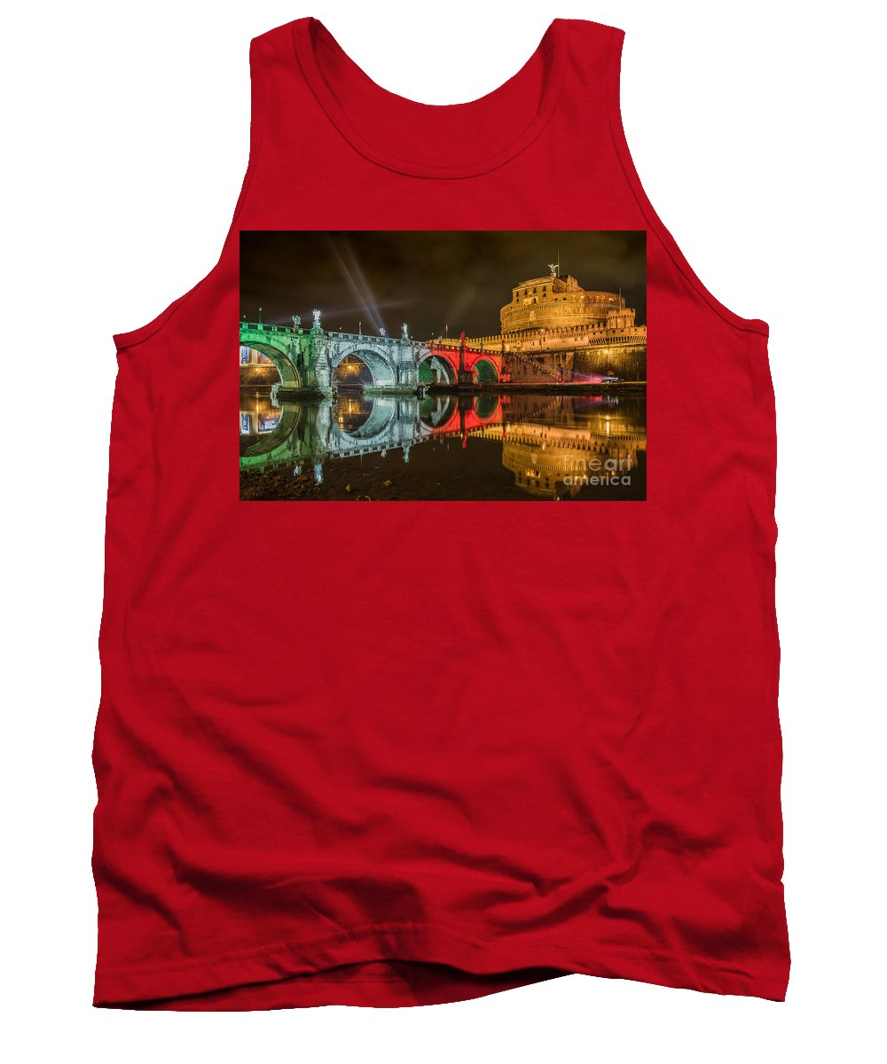 Rome Tank Top featuring the photograph St Angel Castel by Valerio Poccobelli