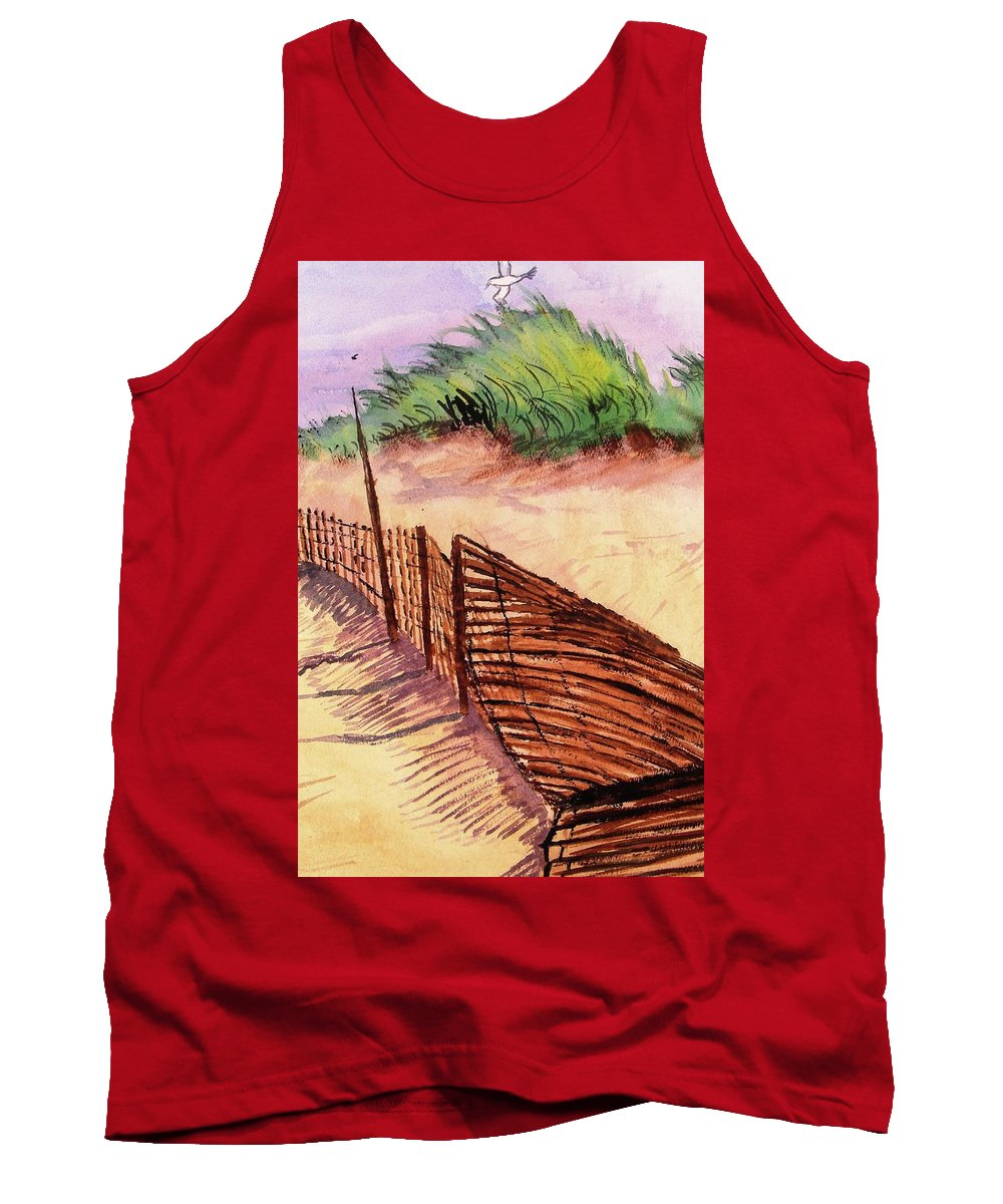 Seascape Tank Top featuring the painting St. Augustine Beach by Spencer Hudson