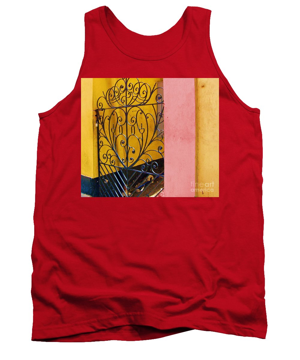 Gate Tank Top featuring the photograph St. Thomas Gate by Debbi Granruth