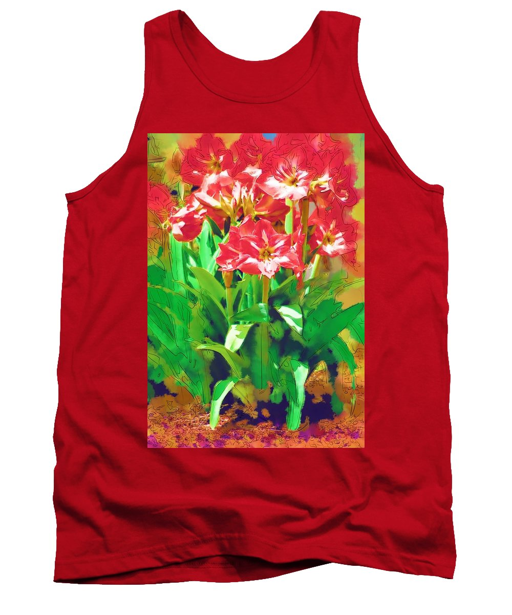 Flowers Tank Top featuring the photograph Standing At Attention by Donna Bentley