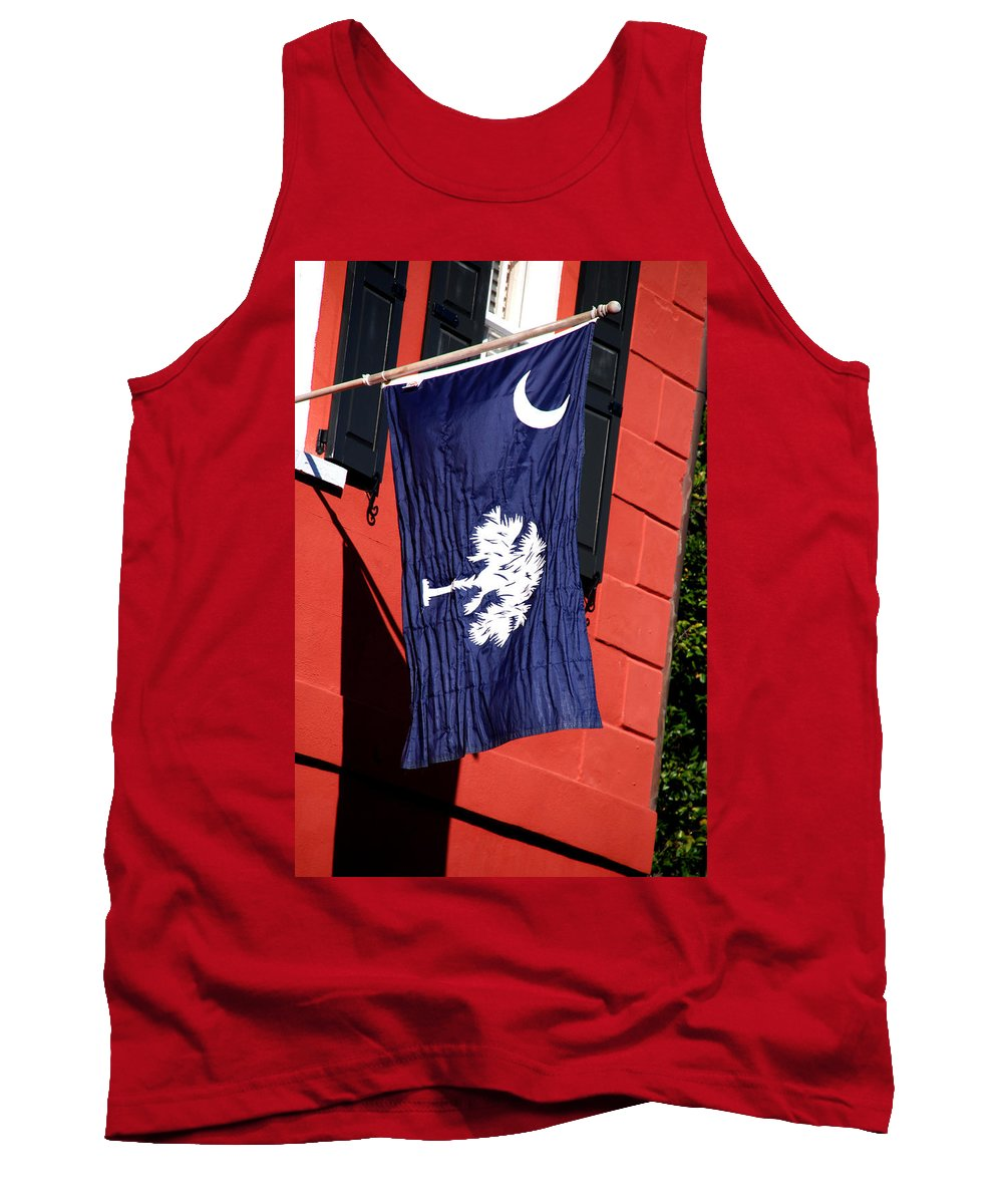 Photography Tank Top featuring the photograph State Flag Of South Carolina by Susanne Van Hulst