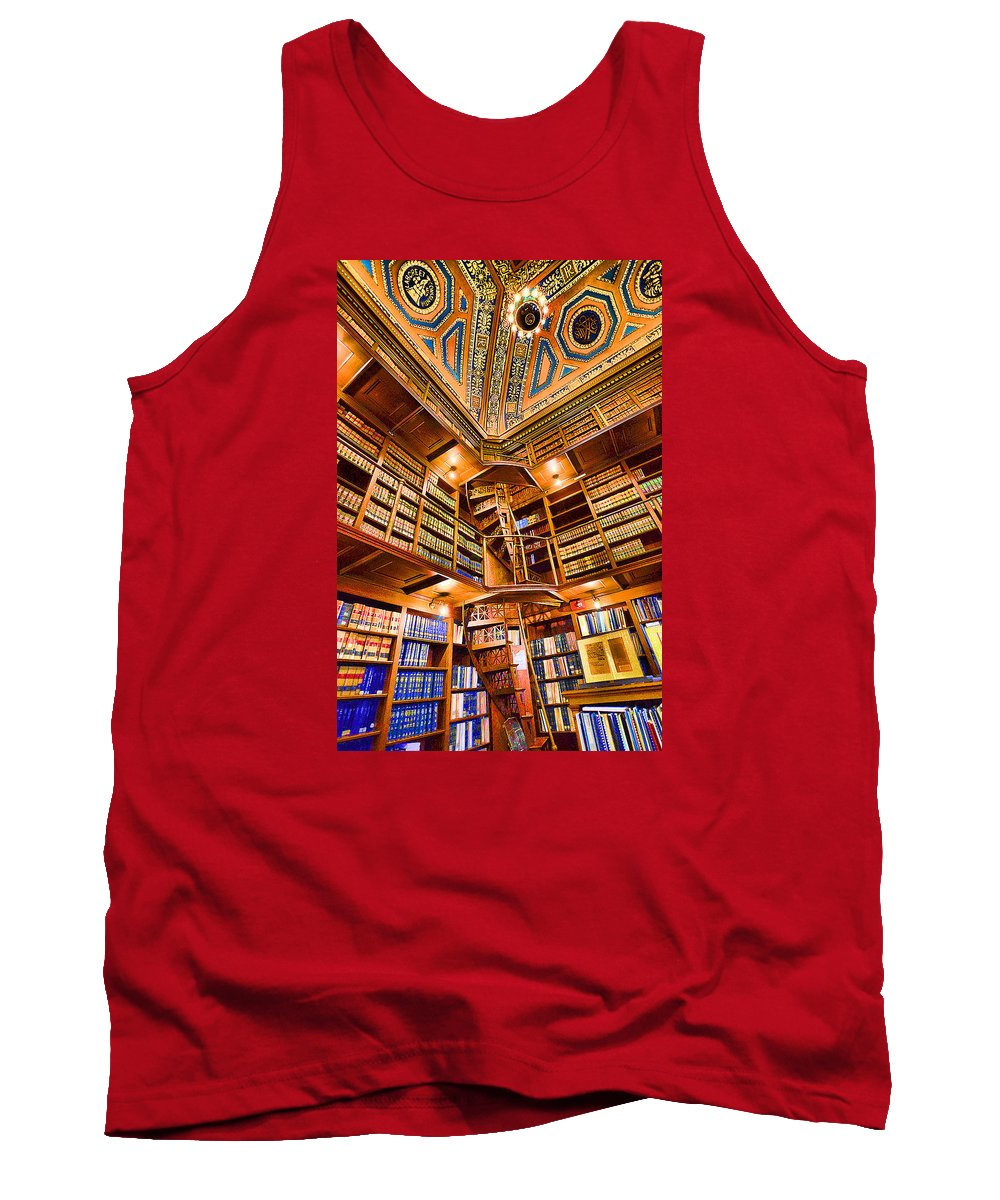 State House Tank Top featuring the photograph Stately Library by Melissa Hicks