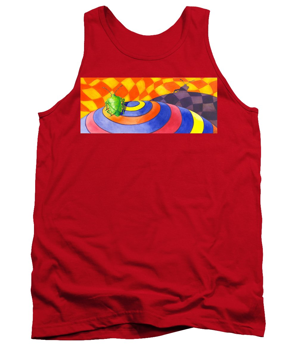 Insect Tank Top featuring the painting Stink Bug by Catherine G McElroy