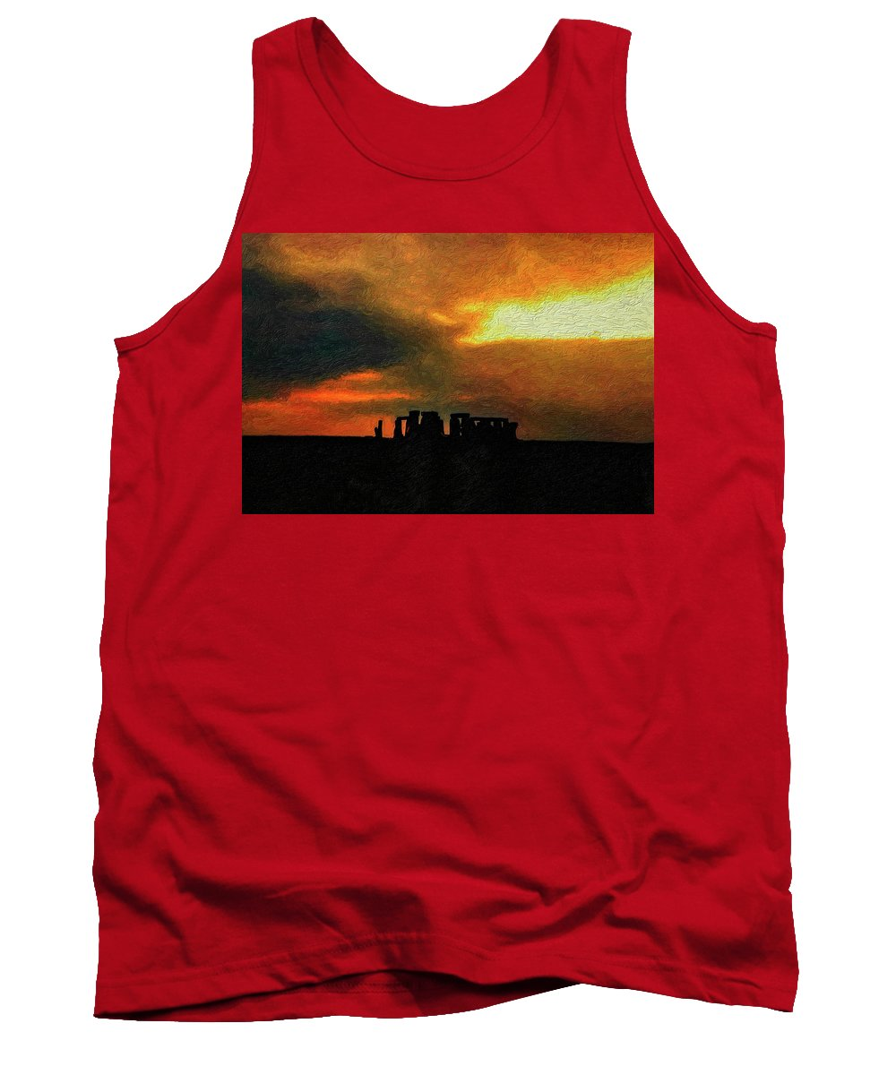 Stonehenge Tank Top featuring the photograph Stonehenge by Steve Harrington