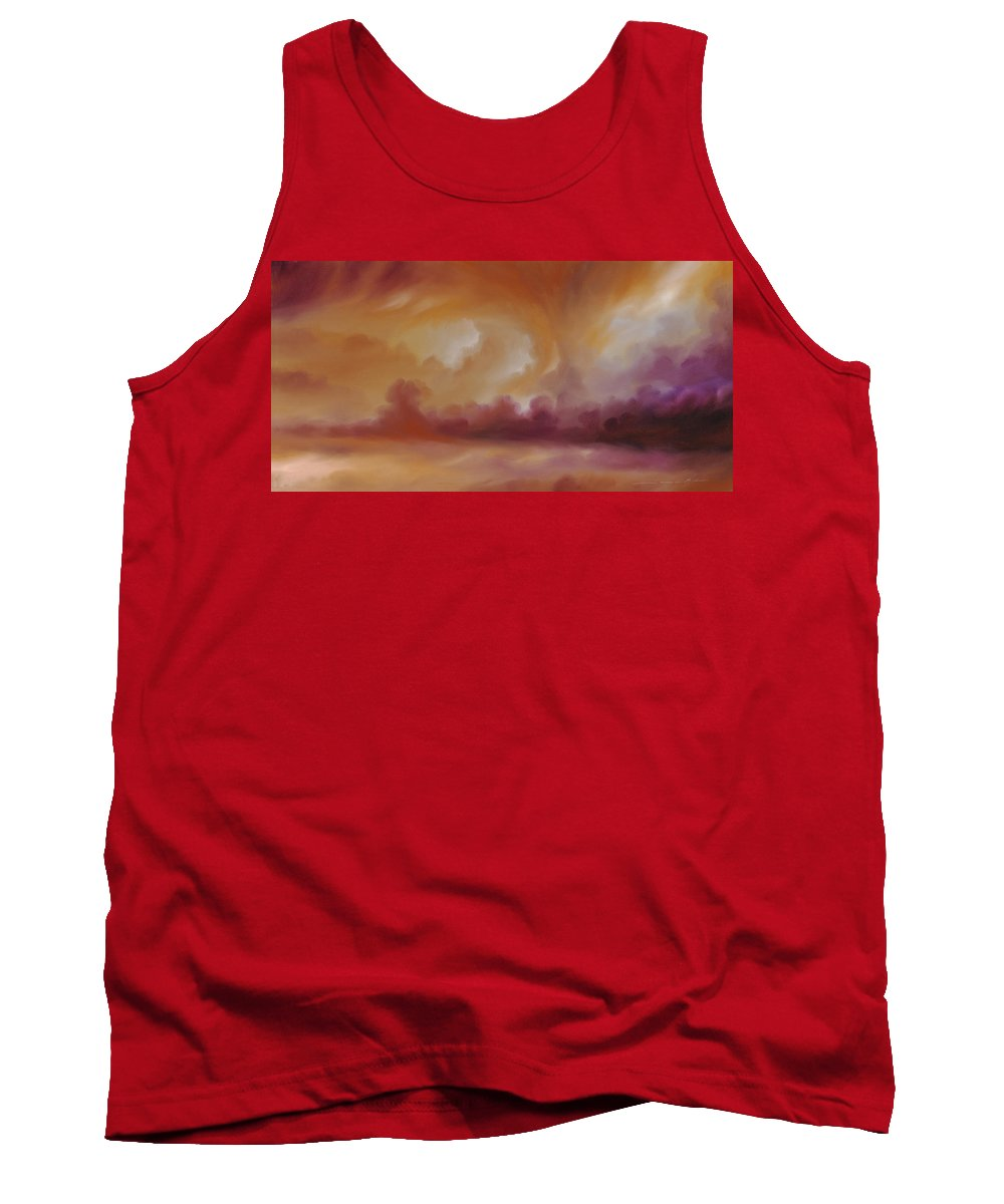 Tempest Tank Top featuring the painting Storm Clouds 2 by James Christopher Hill