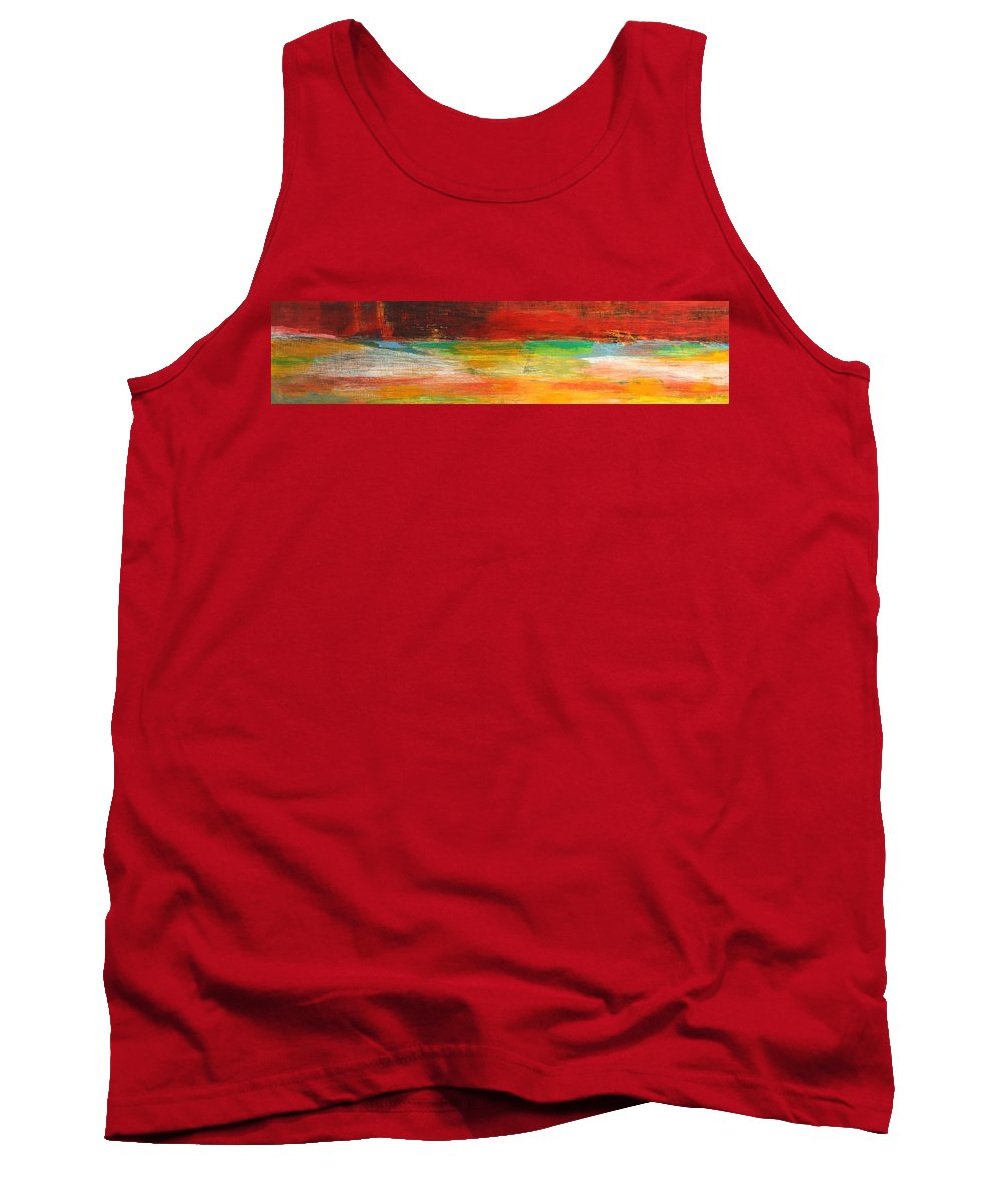 Abstract Tank Top featuring the painting Stretching Land by Habib Ayat
