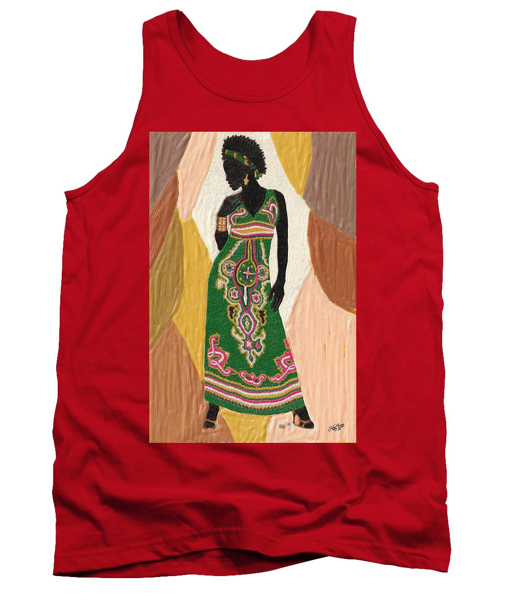 Women Tank Top featuring the painting Style 4 by James Mingo