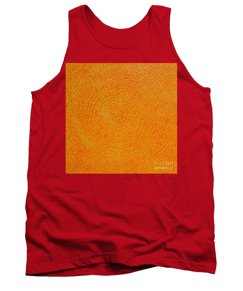 Abstract Tank Top featuring the painting Su Gaia by Dean Triolo