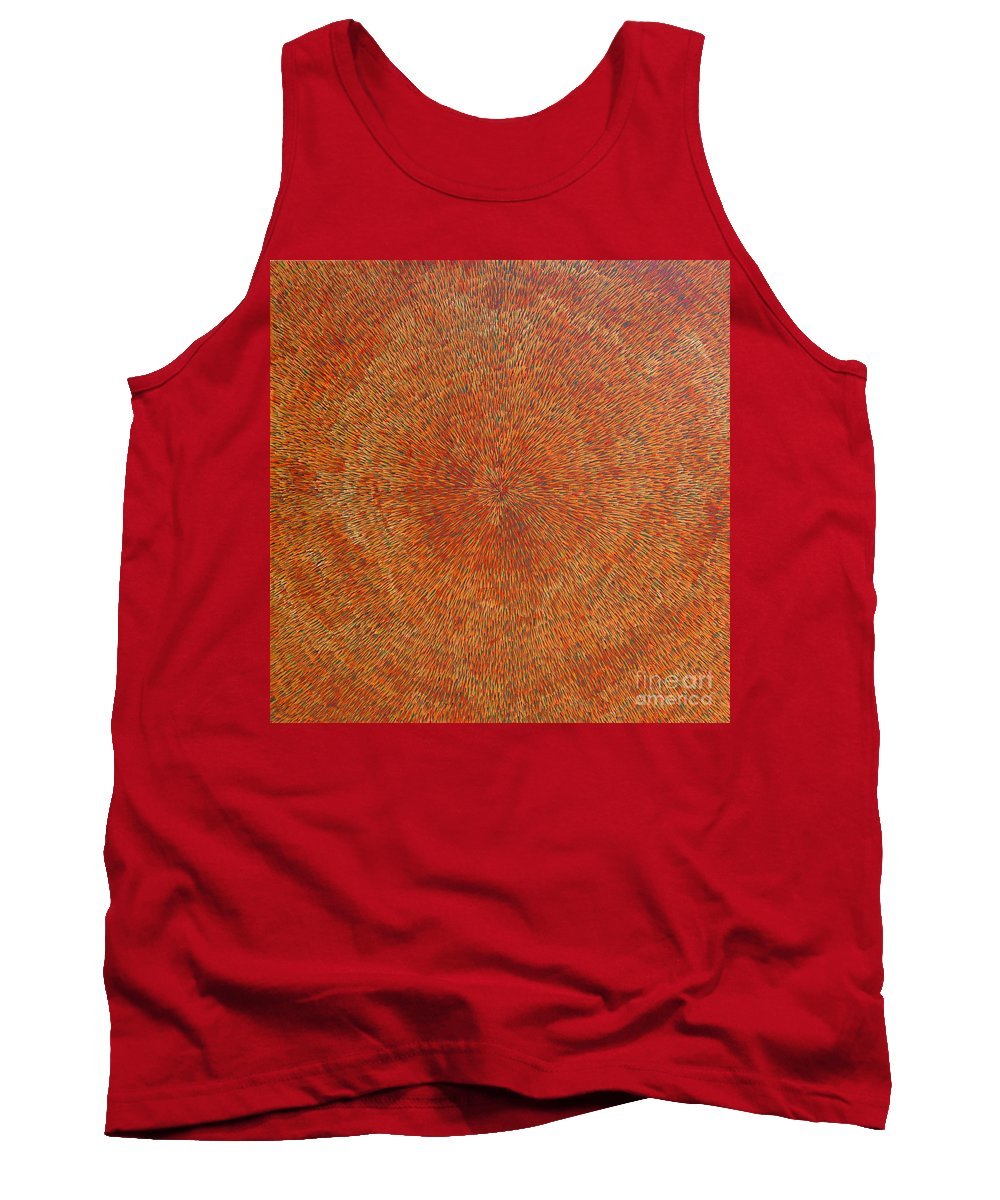Abstract Tank Top featuring the painting Su Gaia Earth by Dean Triolo