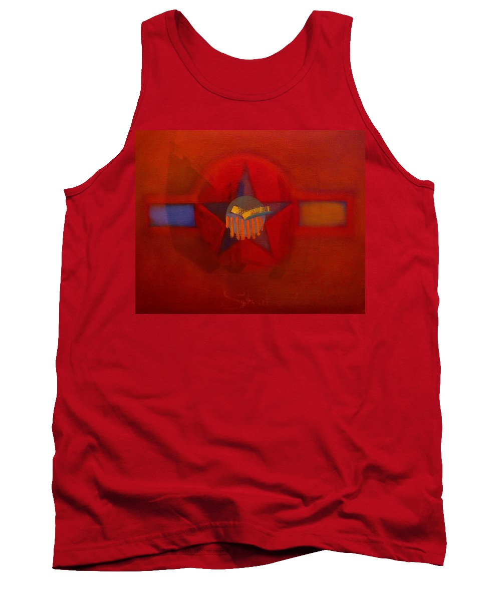 Warm Tank Top featuring the painting Sub Decal by Charles Stuart
