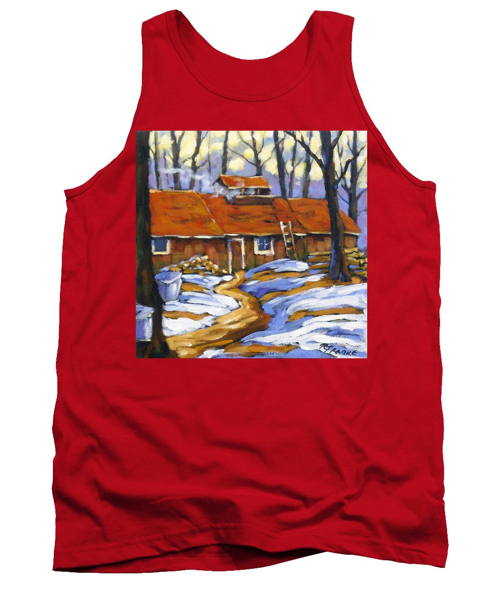 Sugar Shack Tank Top featuring the painting Sugar Time by Richard T Pranke