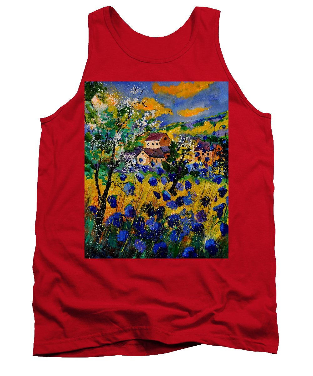 Landscape Tank Top featuring the painting Summer 560160 by Pol Ledent
