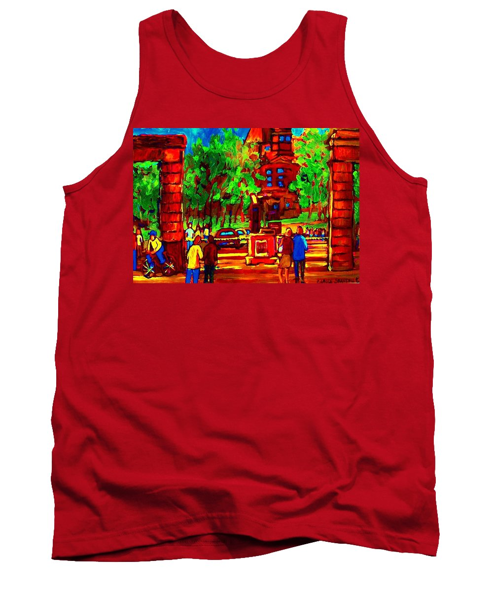 Mcgill University Tank Top featuring the painting Summer At Mcgill University by Carole Spandau